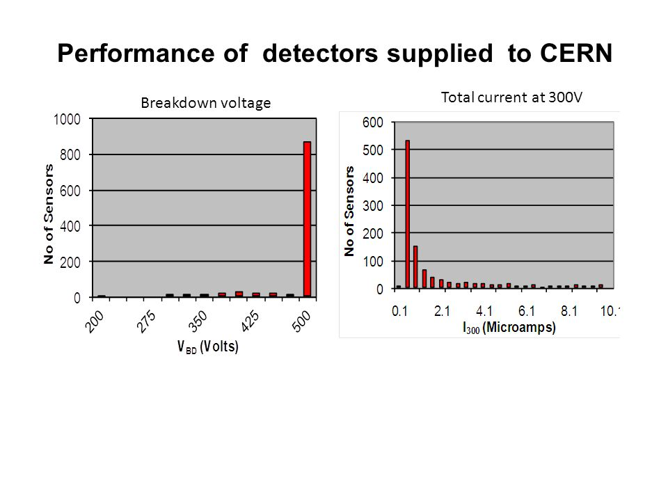 Performance of detectors supplied to CERN