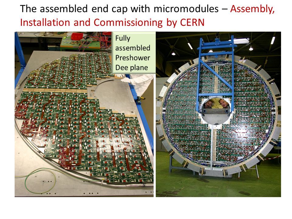 The assembled end cap with micromodules – Assembly, Installation and Commissioning by CERN