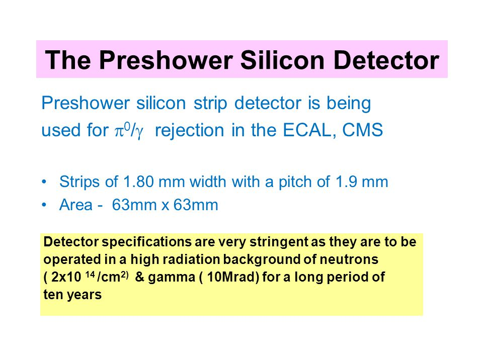 The Preshower Silicon Detector