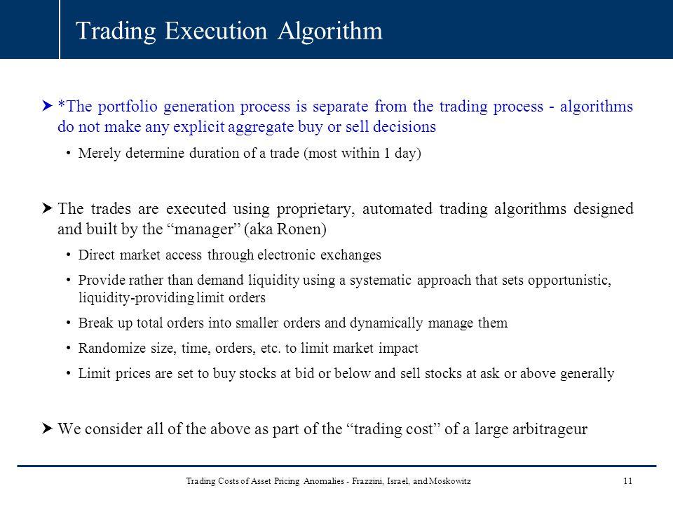 Trading Execution Algorithm