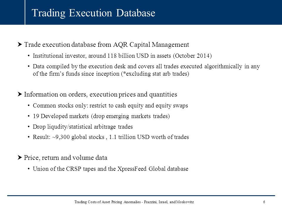 Trading Execution Database
