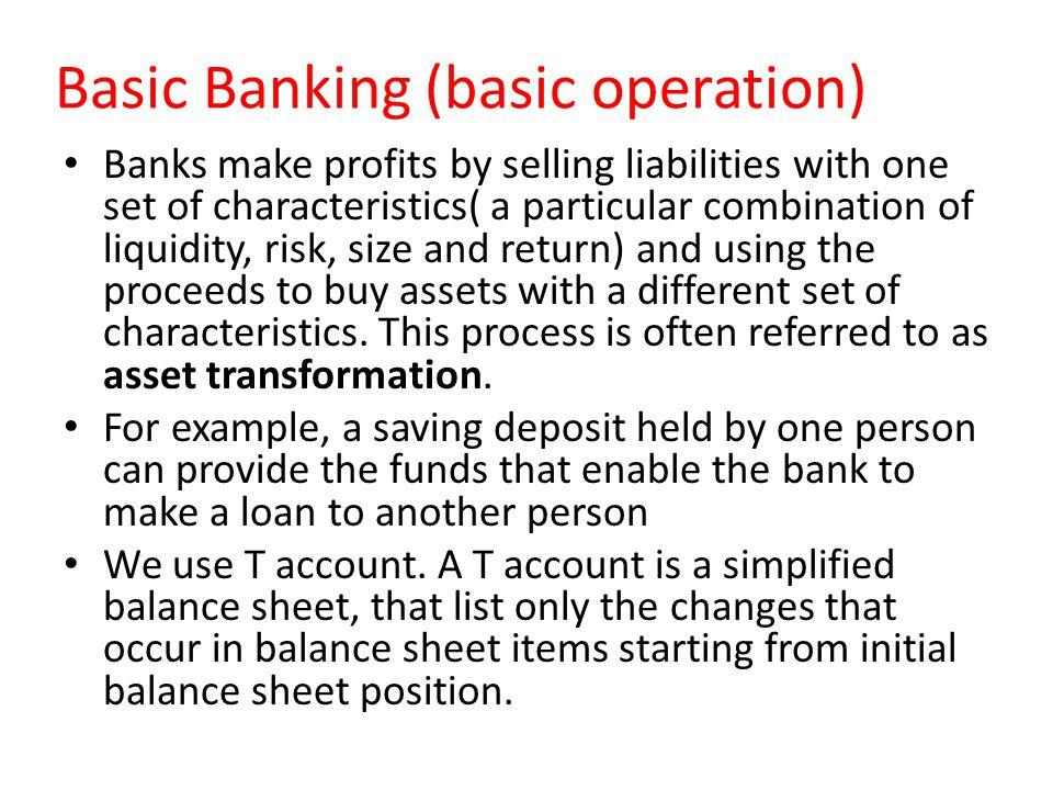 Basic Banking (basic operation)
