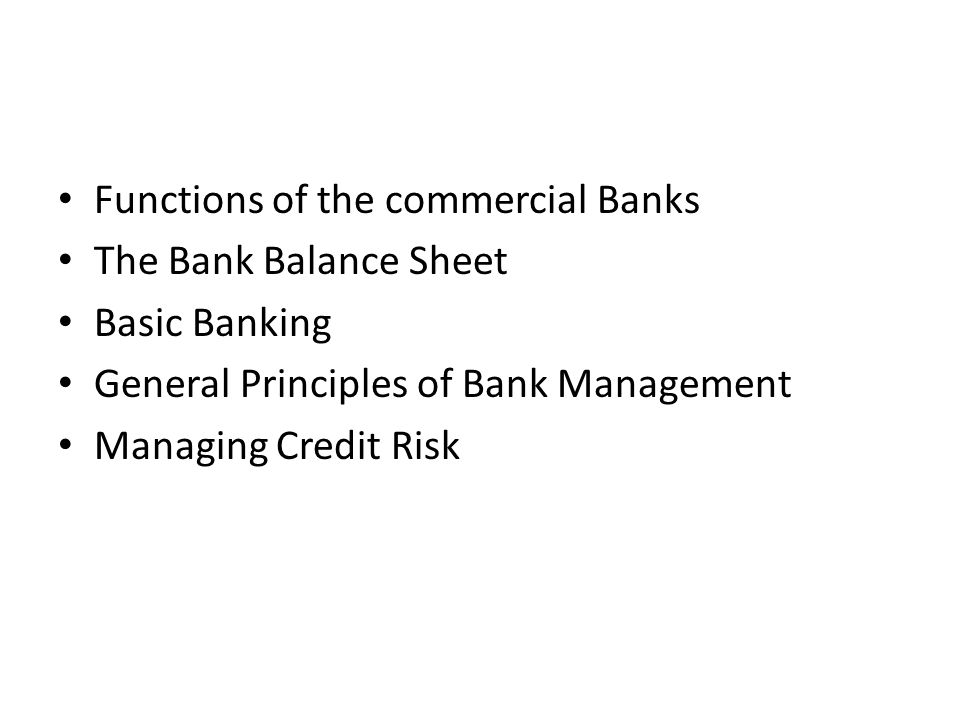 Functions of the commercial Banks