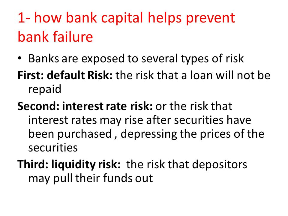 1- how bank capital helps prevent bank failure