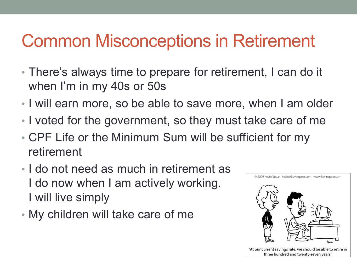 Common Misconceptions in Retirement
