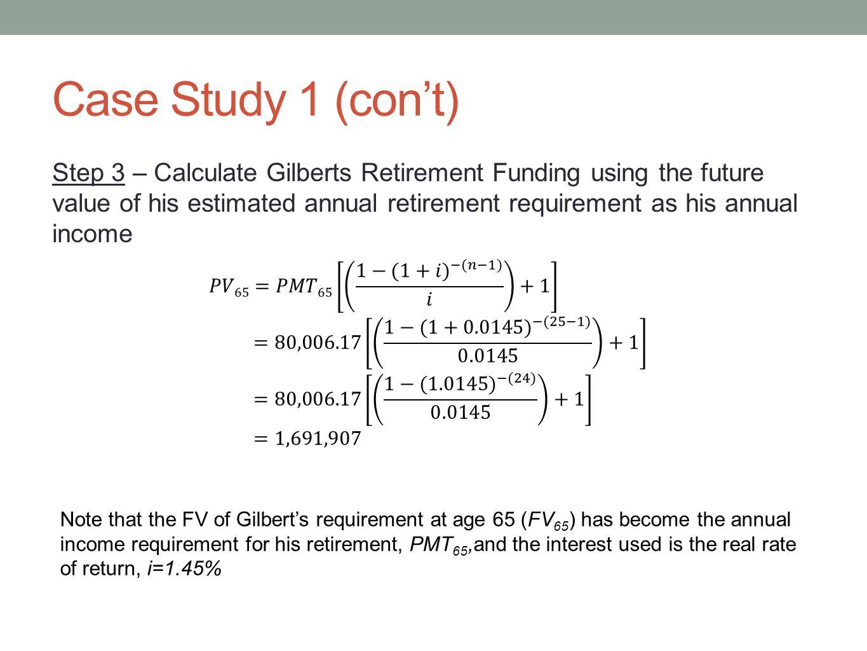 Case Study 1 (con't)