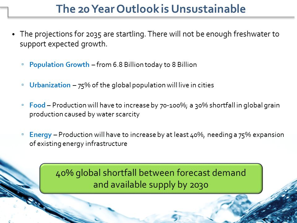 The 20 Year Outlook is Unsustainable