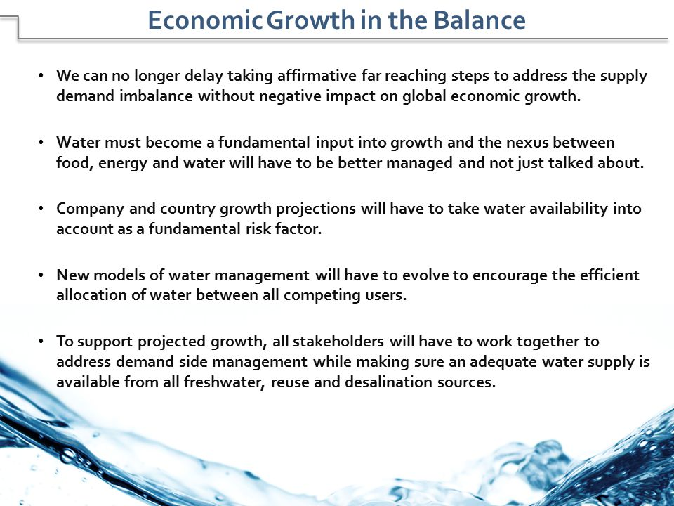 Economic Growth in the Balance