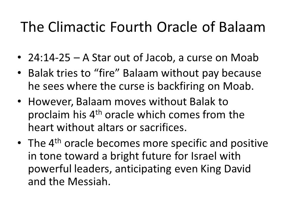 The Climactic Fourth Oracle of Balaam
