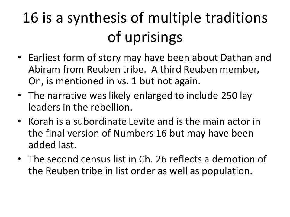 16 is a synthesis of multiple traditions of uprisings