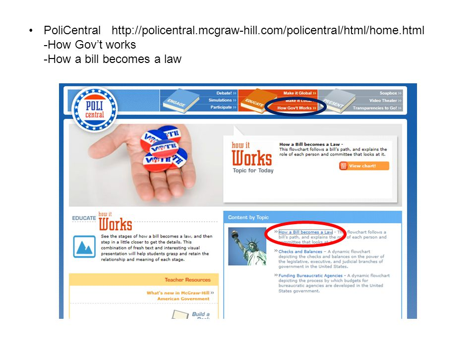 PoliCentral http://policentral. mcgraw-hill. com/policentral/html/home