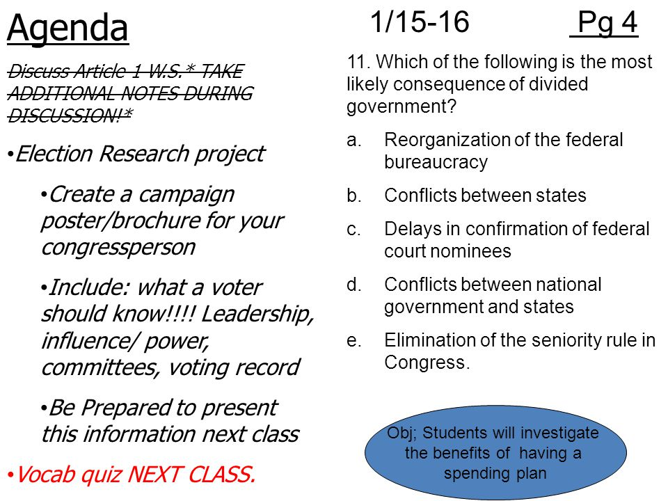 Agenda 1/15-16 Pg 4 Election Research project