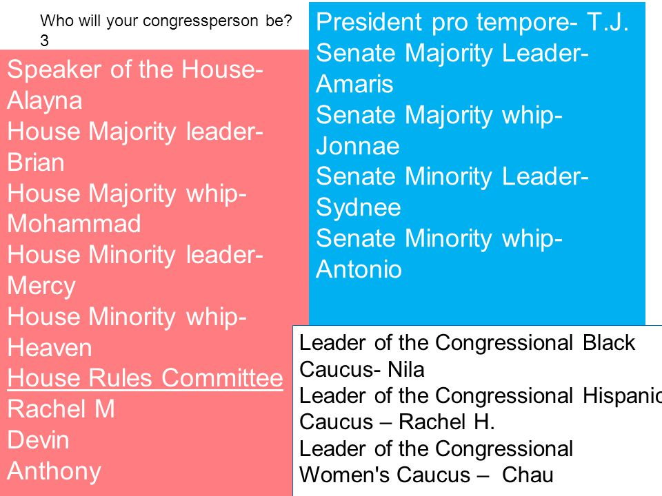 Who will your congressperson be 3