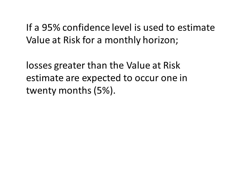 If a 95% confidence level is used to estimate