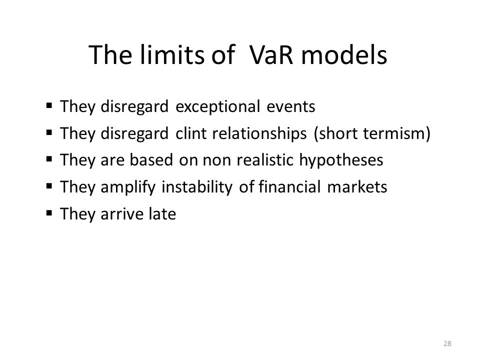 The limits of VaR models