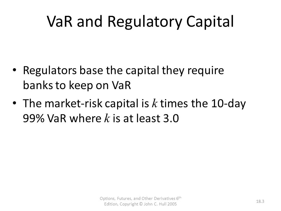 VaR and Regulatory Capital
