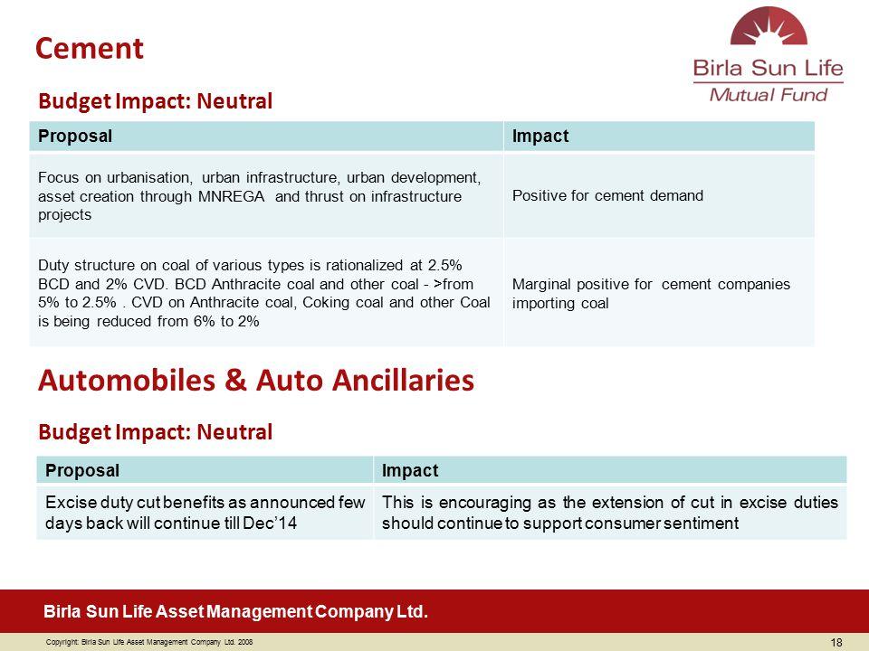 Automobiles & Auto Ancillaries