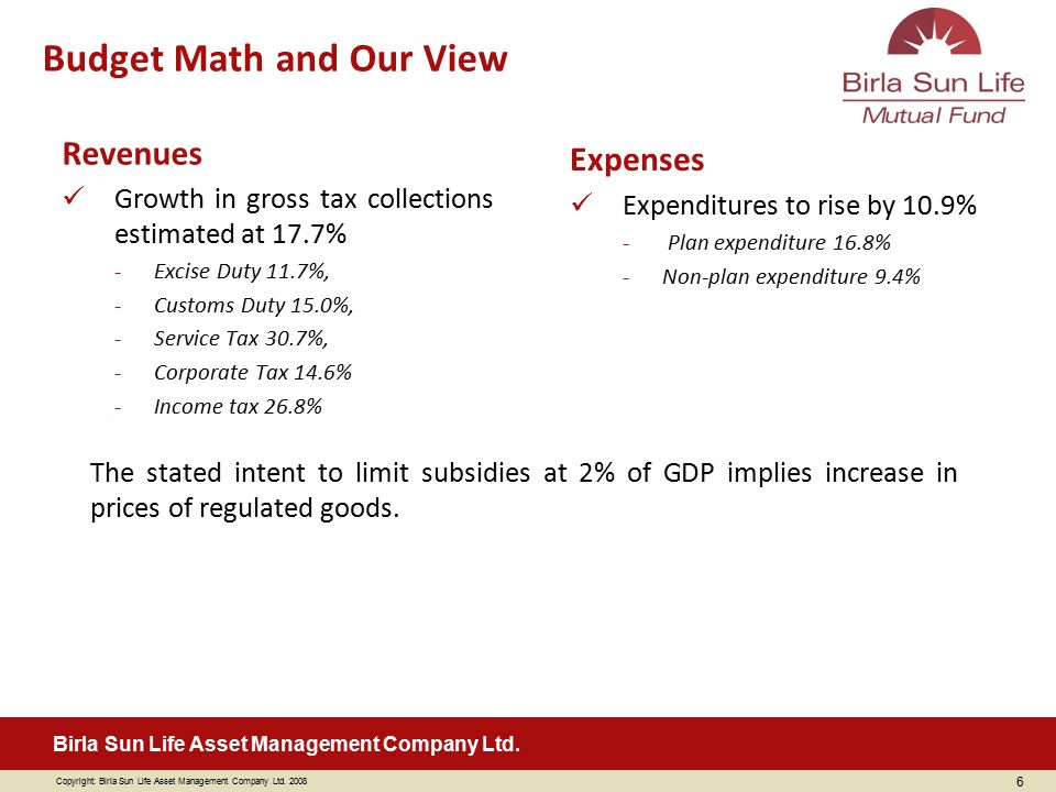 Budget Math and Our View