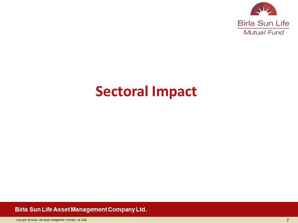 Sectoral Impact