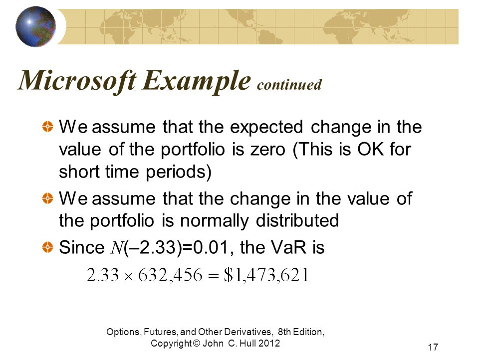 Microsoft Example continued