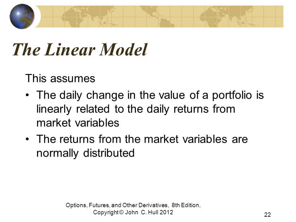 The Linear Model This assumes