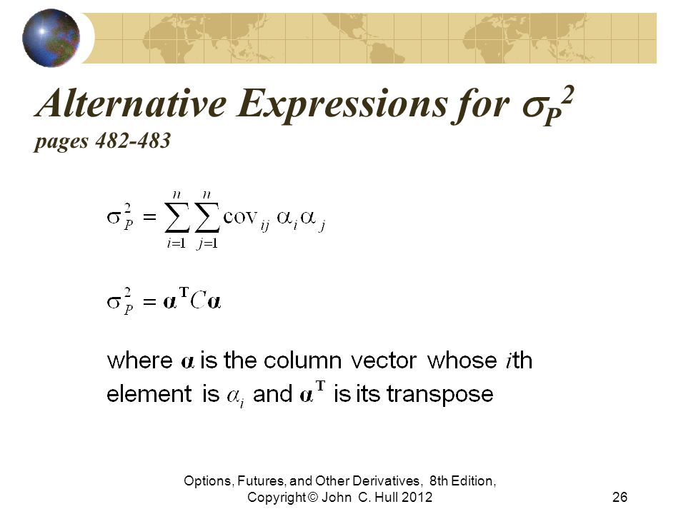 Alternative Expressions for sP2 pages 482-483