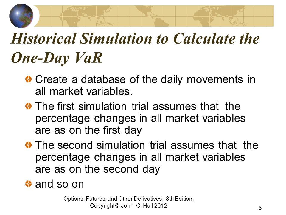 Historical Simulation to Calculate the One-Day VaR