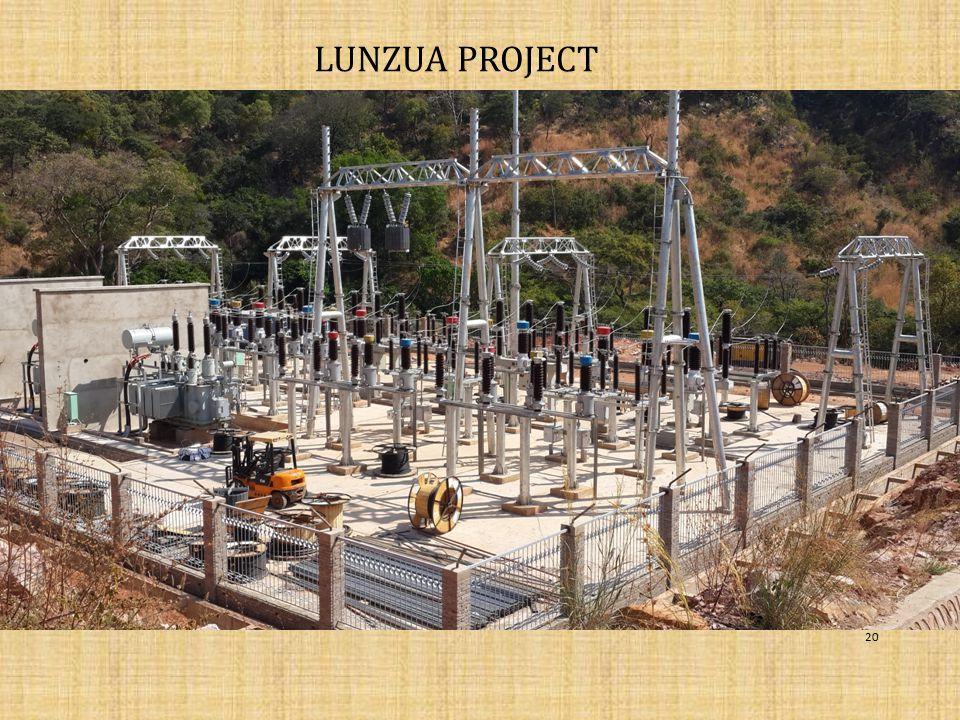 LUNZUA PROJECT LUNZUA-15MW-US$52M- COMMISSIONING OF UNIT 1 SCHEDULED FOR END august 2014.
