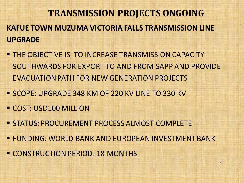 TRANSMISSION PROJECTS ongoing