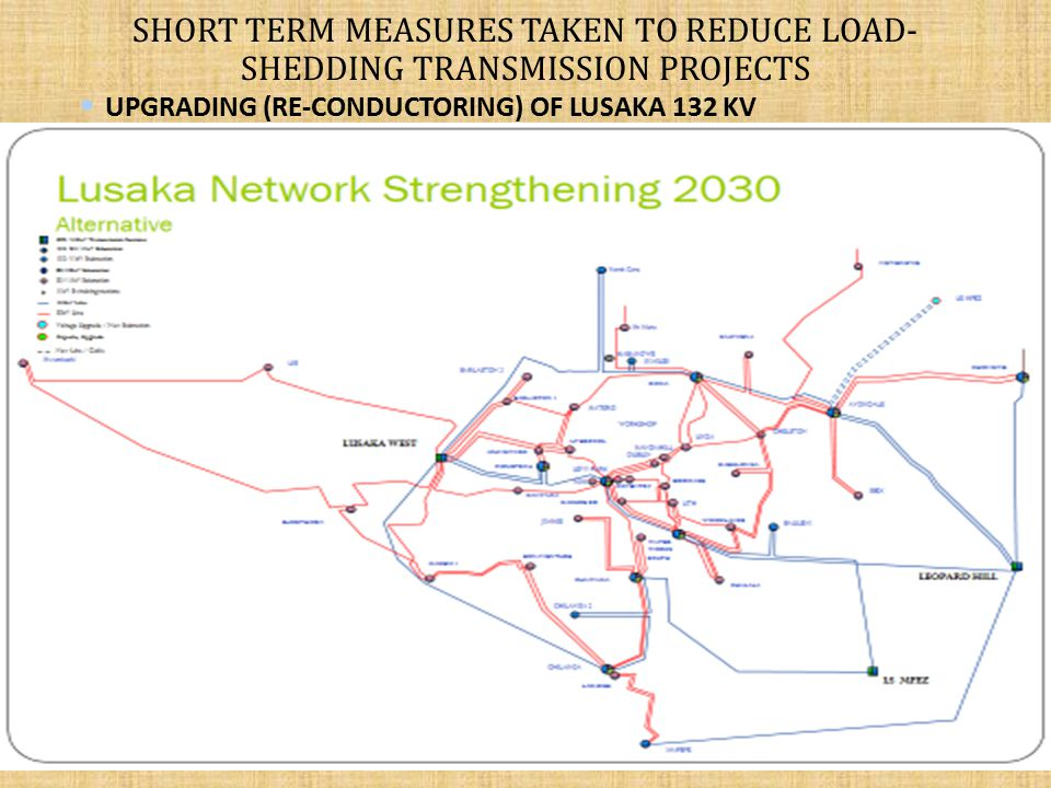 SHORT TERM MEASURES TAKEN TO REDUCE LOAD-SHEDDING transmission projects