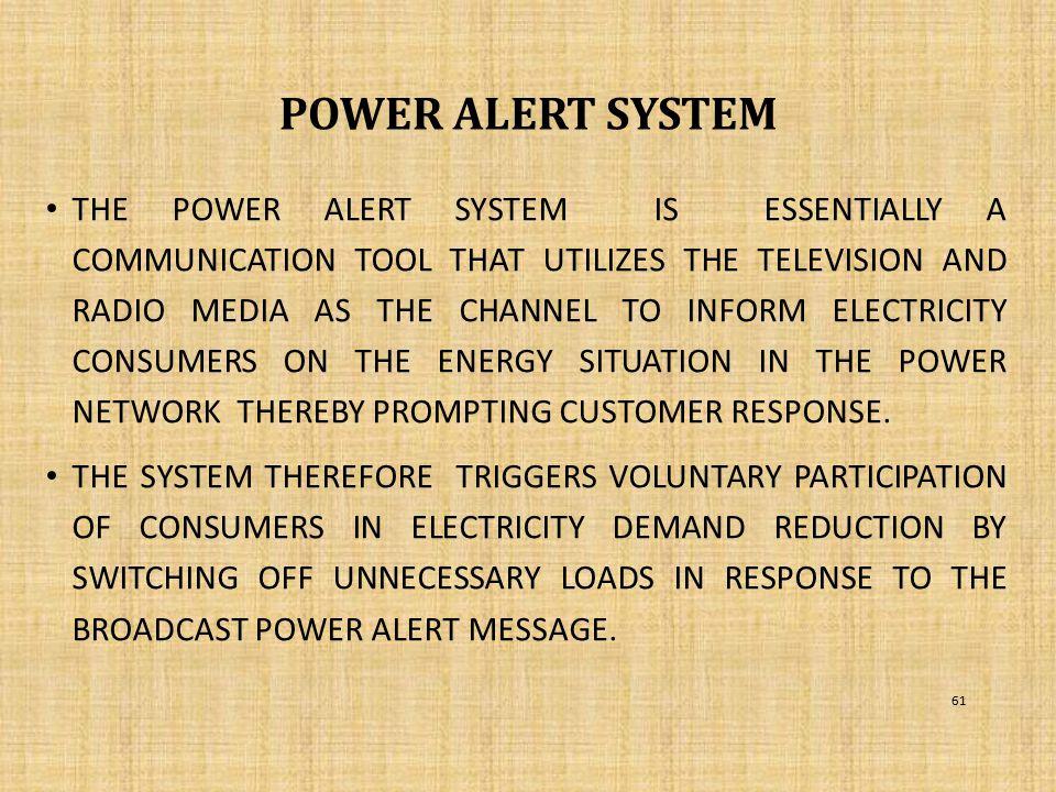 POWER ALERT SYSTEM