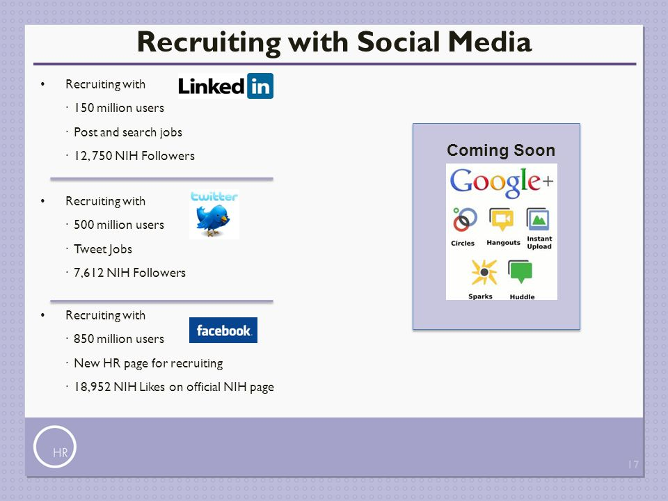 Recruiting with Social Media