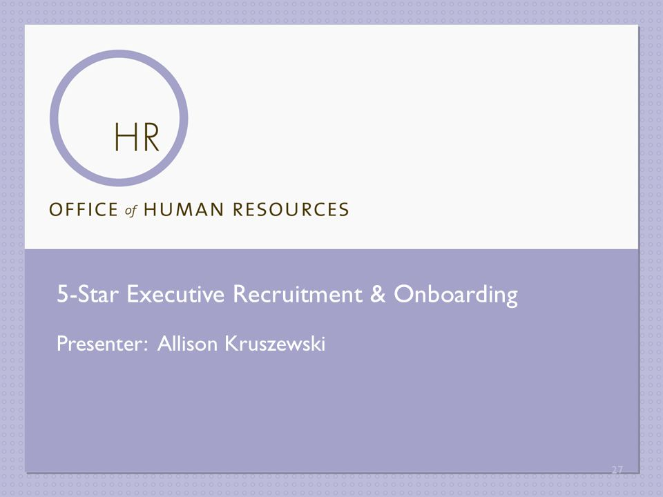 5-Star Executive Recruitment & Onboarding