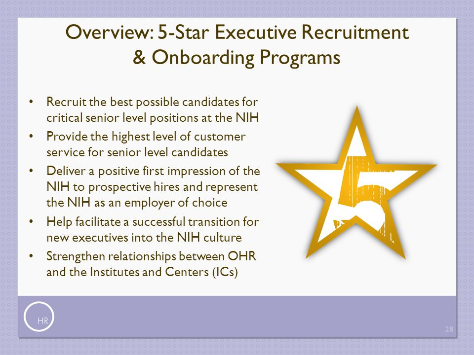 Overview: 5-Star Executive Recruitment & Onboarding Programs
