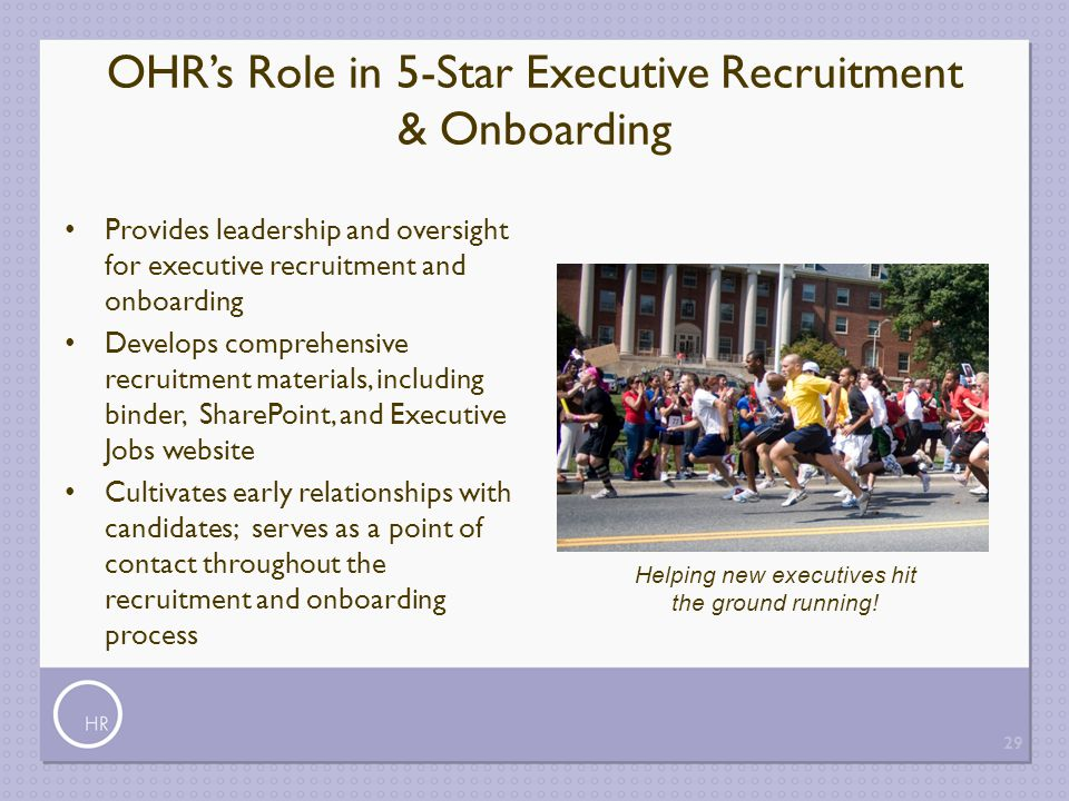 OHR's Role in 5-Star Executive Recruitment & Onboarding