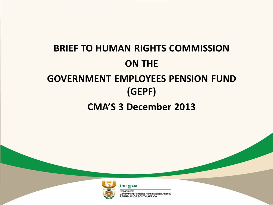 BRIEF TO HUMAN RIGHTS COMMISSION ON THE