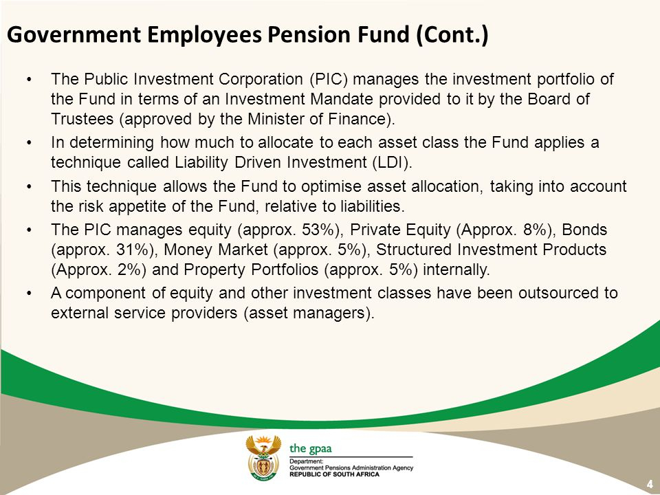 Government Employees Pension Fund (Cont.)