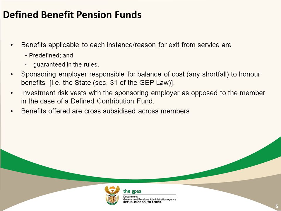 Defined Benefit Pension Funds