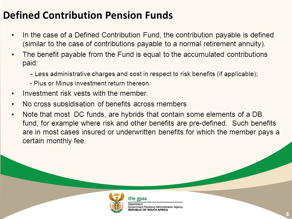Defined Contribution Pension Funds