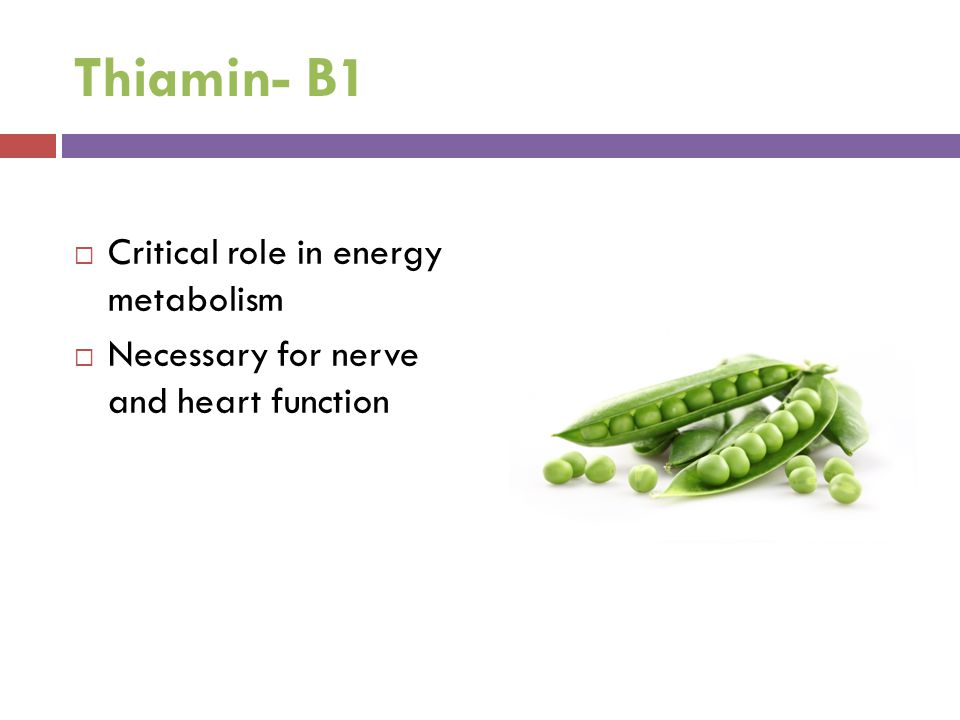 Thiamin- B1 Critical role in energy metabolism