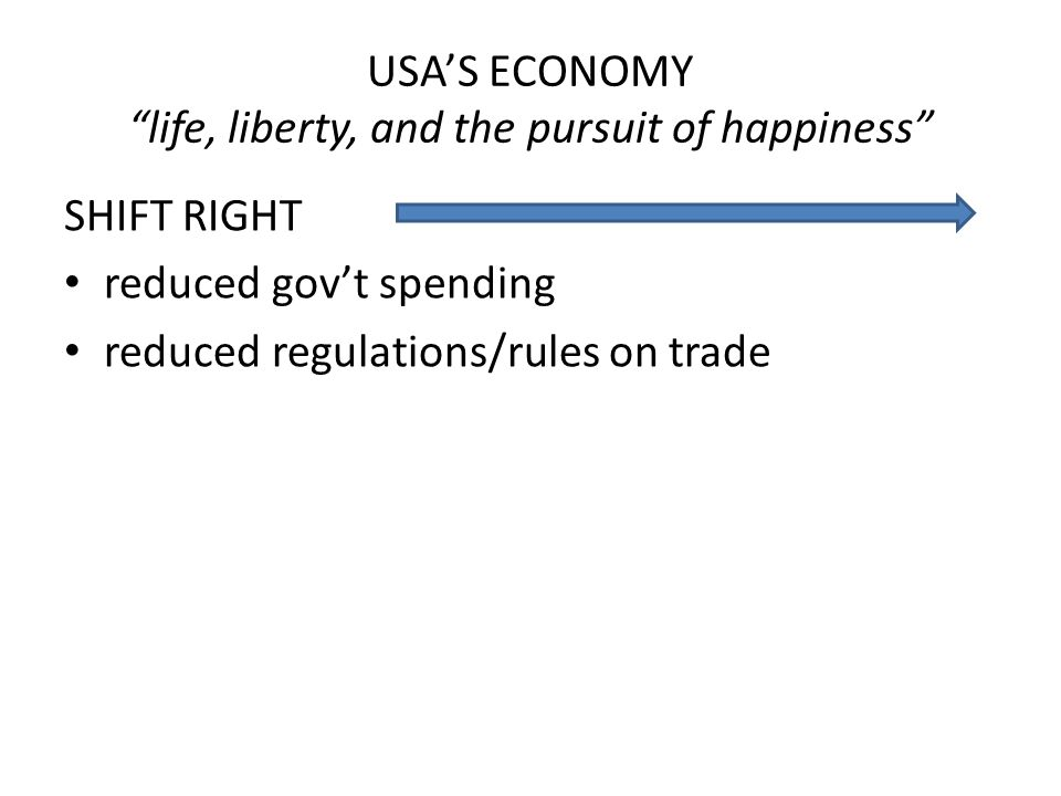 USA'S ECONOMY life, liberty, and the pursuit of happiness