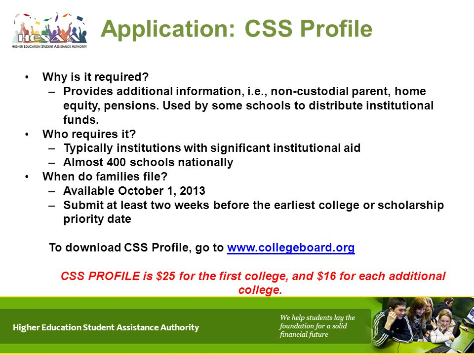 Application: CSS Profile