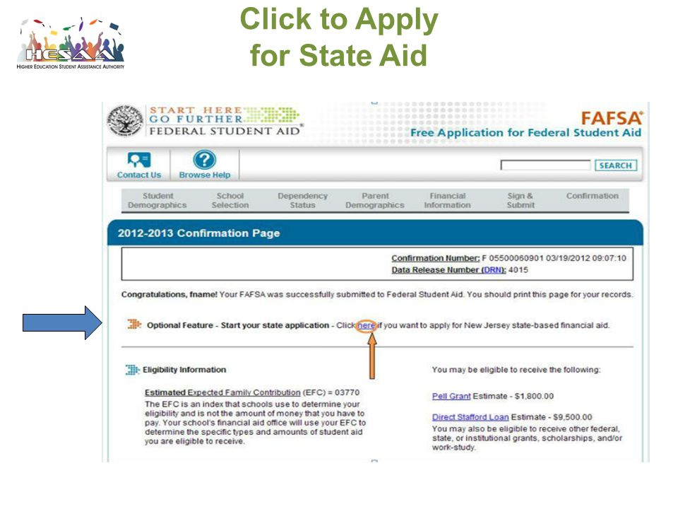 Click to Apply for State Aid