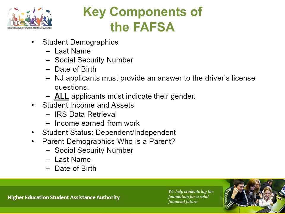 Key Components of the FAFSA