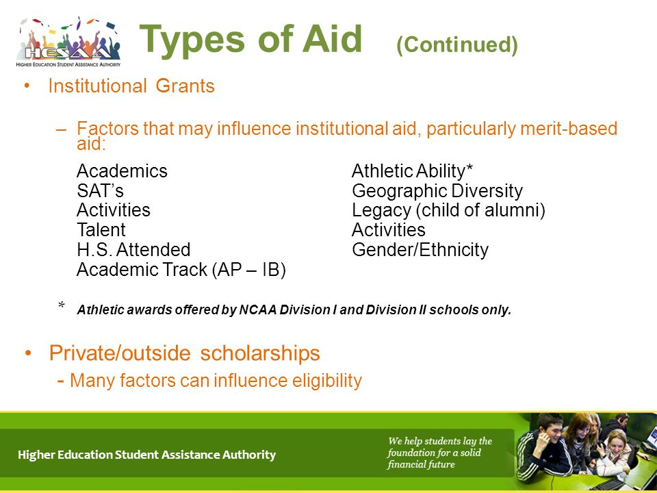 Types of Aid (Continued)