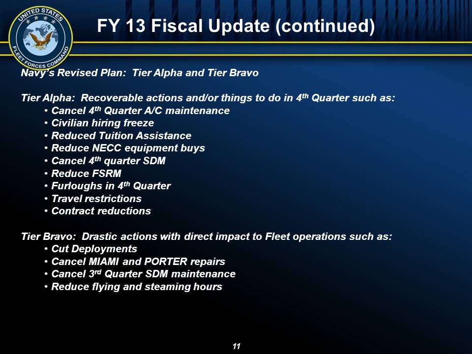 FY 13 Fiscal Update (continued)