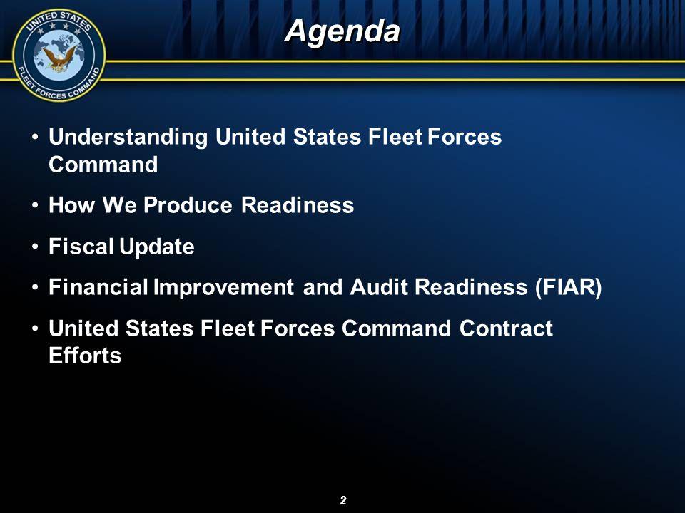 Agenda Understanding United States Fleet Forces Command