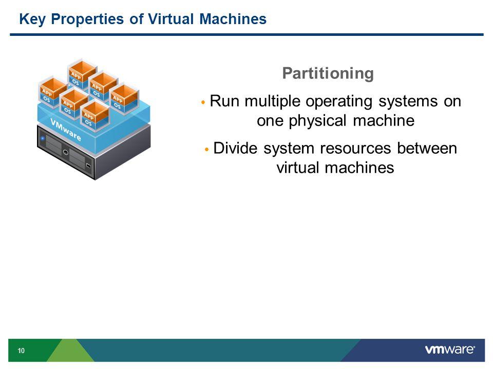Key Properties of Virtual Machines