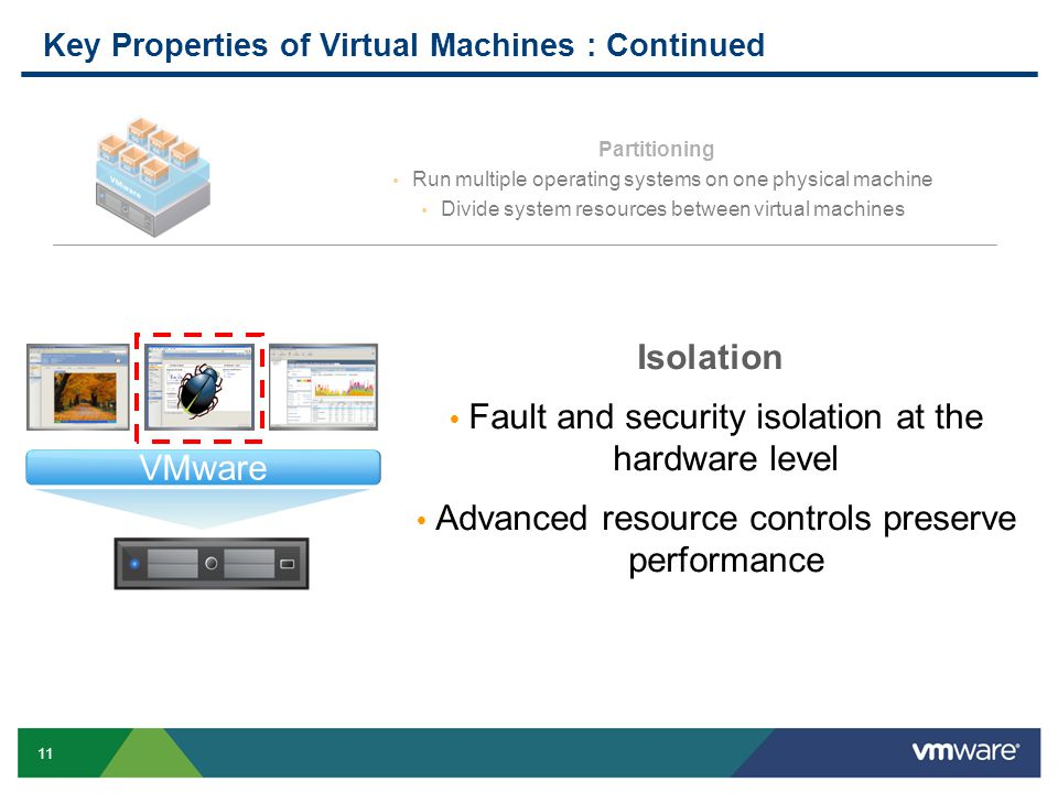 Key Properties of Virtual Machines : Continued