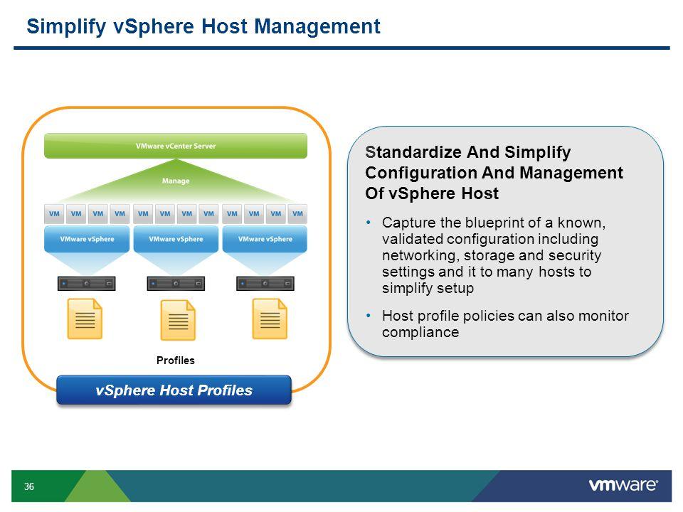 Simplify vSphere Host Management